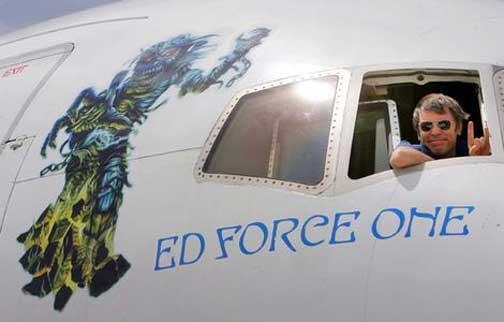 Bruce in Ed Force One