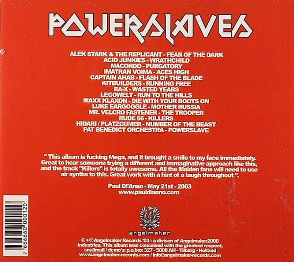 Powerslaves album – Back Cover